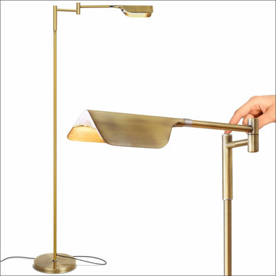 Precise Touch Antique Brass Floor Lamp
