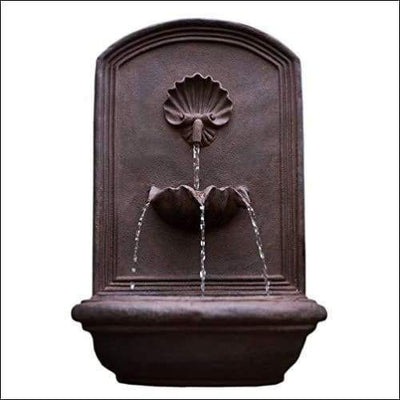 Premium Weathered Bronze Wall Fountain - Outdoor