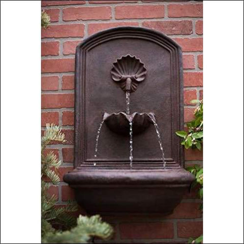 Premium Weathered Bronze Outdoor Wall Fountain