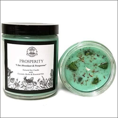Prosperity Affirmation Essential Oil Scented Soy Candle
