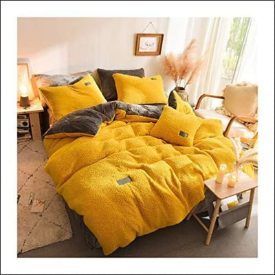 Pumpkin Gray Lamb Cashmere 4PC Bedding Set