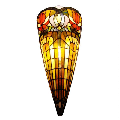 Rainbow Antique Stained Glass Wall Lamp