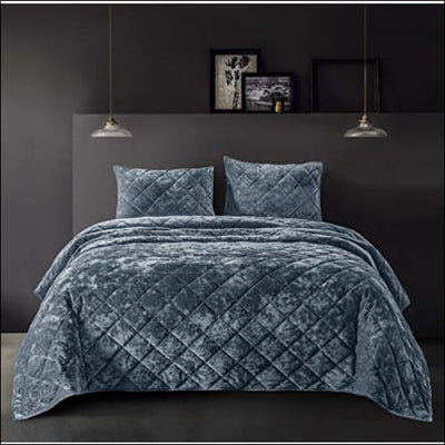 Rainstom Blue Velvet 3PC Comforter Set