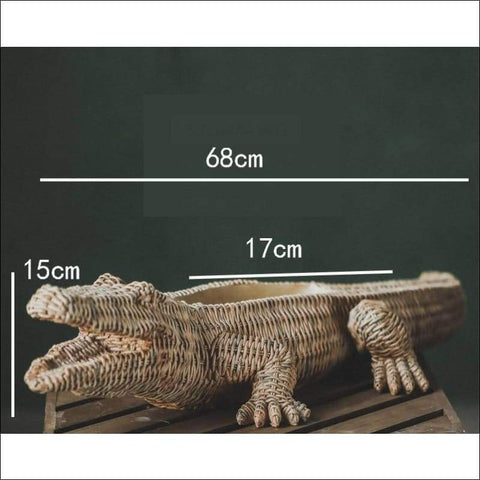 crocodile shaped tabletop flower vase