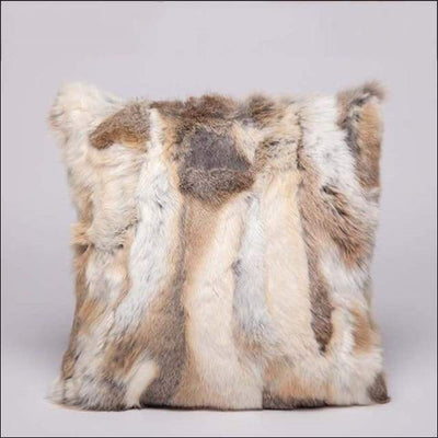 Real Coyote Fur Plush Pillow Cover