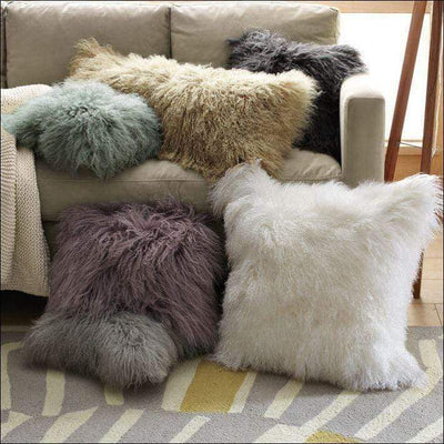 Real Natural Lamb Fur Pillow Cover