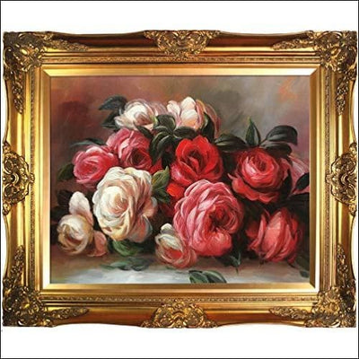 Renoir Discarded Roses Victorian Gold Framed Canvas Painting
