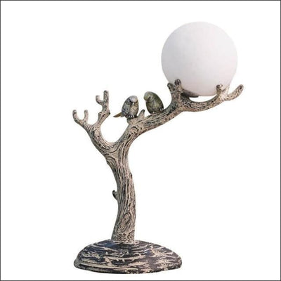 Resin Branch Bird 3D Moon Lamp