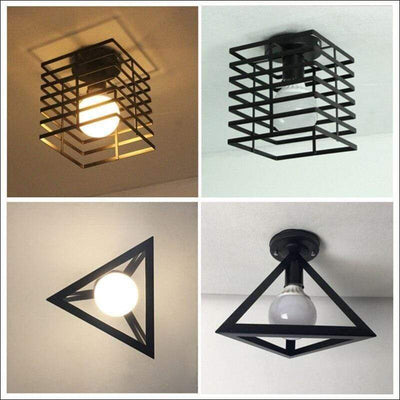 Retro Abstract Modern Ceiling Lamp