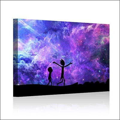 Rich & Morty Milky Way Canvas Wall Art - 12 x 18