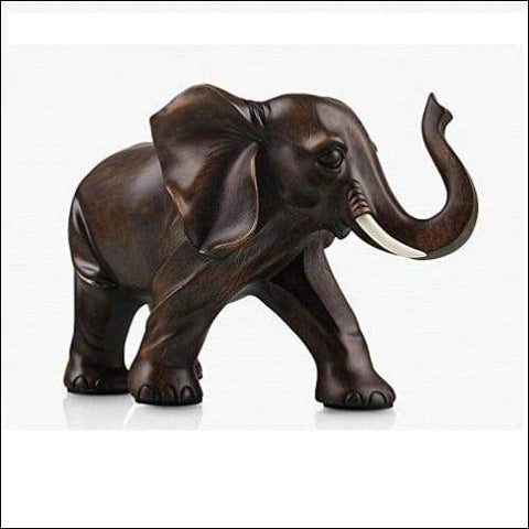 Rosewood Lucky Elephant Tabletop Sculpture