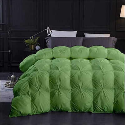Sage Green Goose Down Pintuck Bedding Comforter