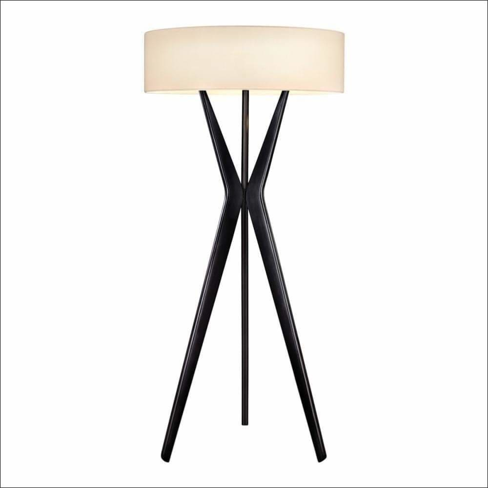 Satin Black Bel Air Tall Floor Lamp - Lamps & Lighting