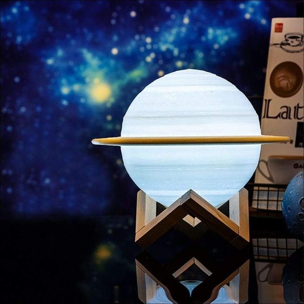 Saturn 3D Moon Lamp - Lamps & Lighting