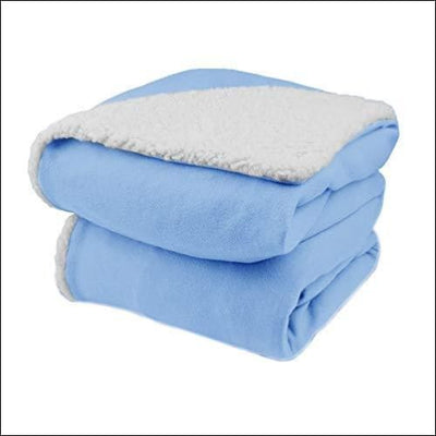 Sherpa Cloud Blue Electric Heated Throw Blanket