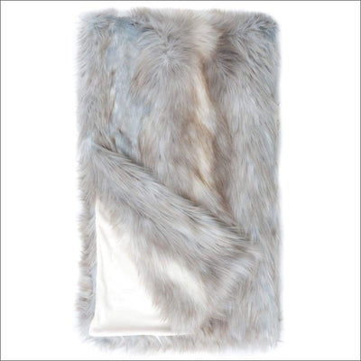 Siberian Fox Fur Throw Blanket