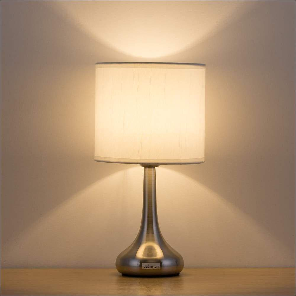 Silver Brushed Nickel Table Lamp - Lamps & Lighting