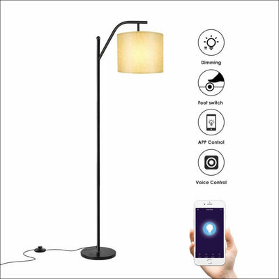 Smart Industrial Arc Floor Lamp