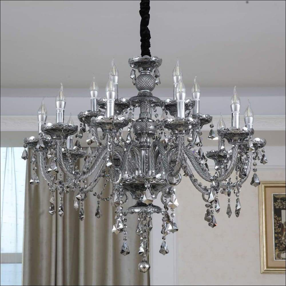Smoke Gray Candle Pendant Ceiling Lamp - Ceiling Lamps