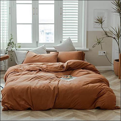 Solid Pumpkin Spice 3PC Bedding Set