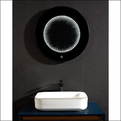 Space Tunnel Waterproof Touch LED Wall Mirror - Lighted Mounted
