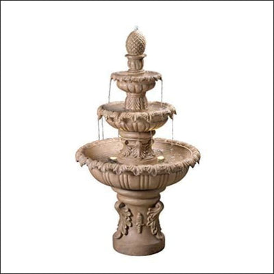 Spanish Mediterranean Sandstone Floor Water Fountain