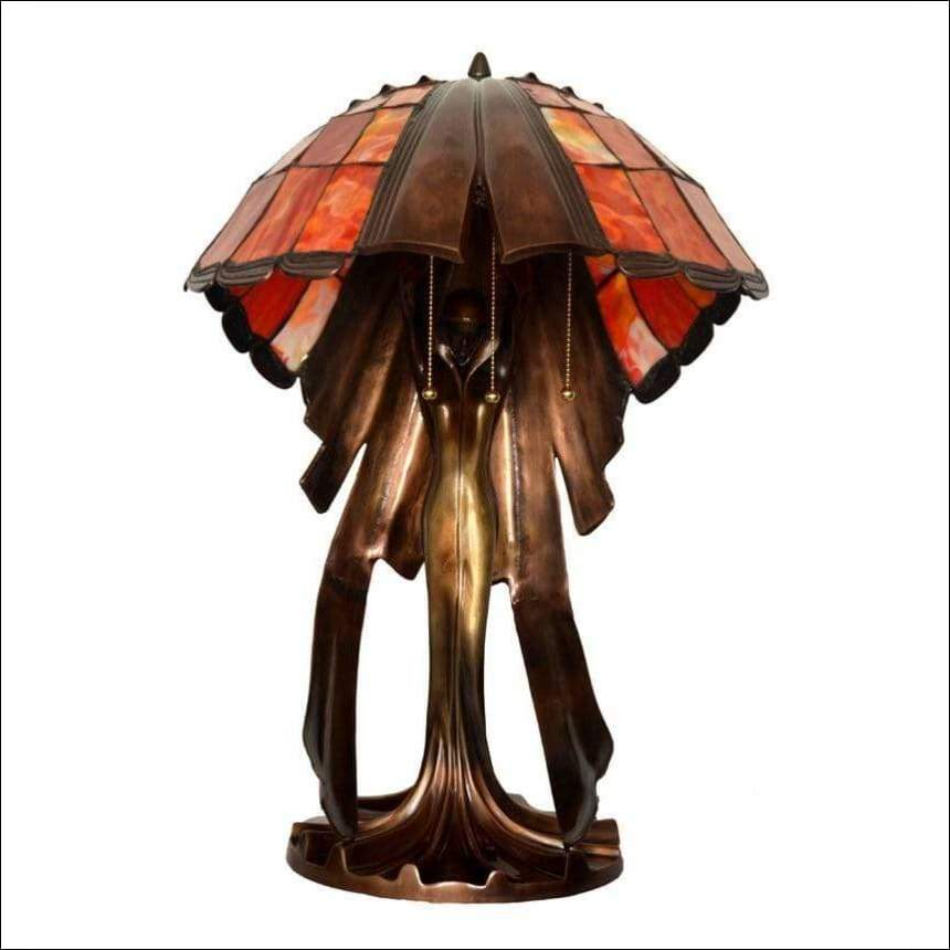 Stained Glass Goddess Table Lamp