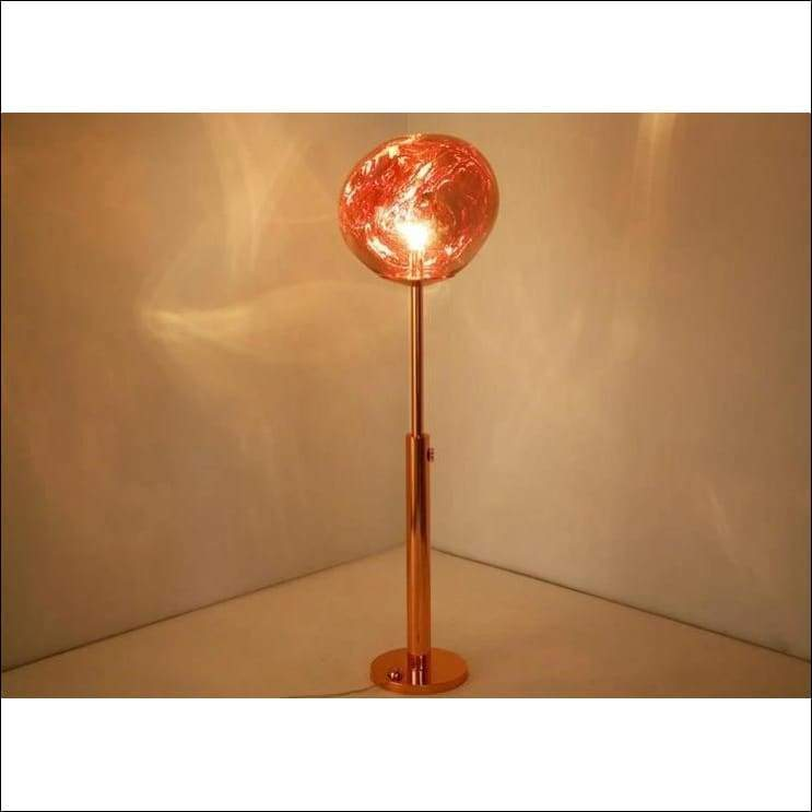 Stained Glass Lava Orb Floor Lamp