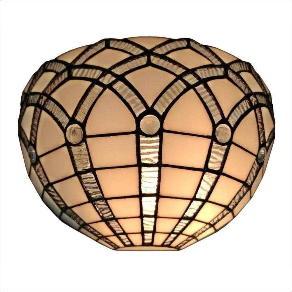 Stained White Glass Vintage Wall Lamp - Wall Lamps