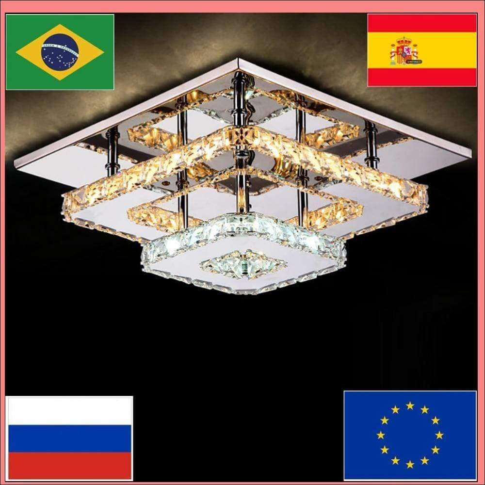 Stainless Steel Acrylic Ceiling Lamp - Ceiling Lamps