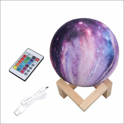 Star Galaxy 3D Moon Lamp