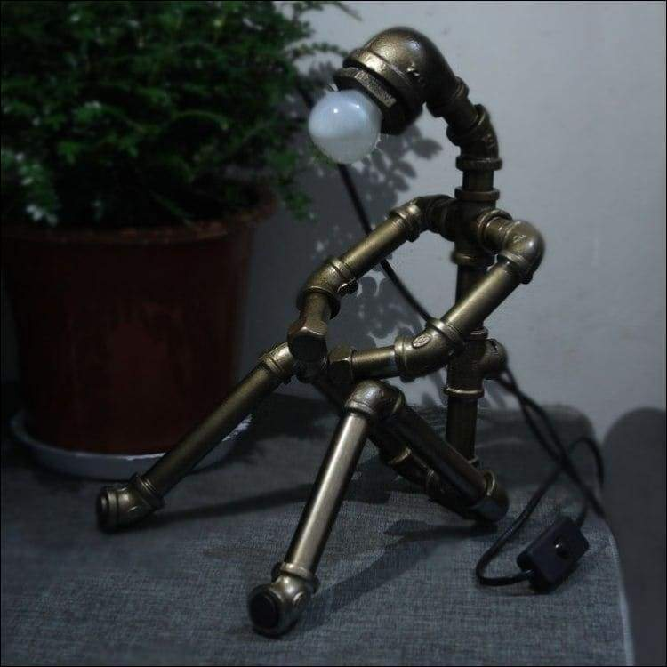 Steampunk Humanoid Robot Table Lamp