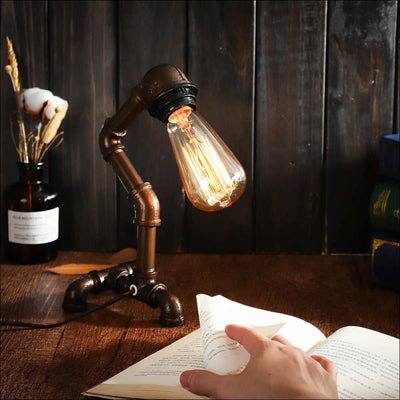 Steampunk Water Pipe Table Lamp