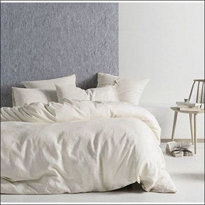 Subtle Cream Chambray 3PC Bedding Set