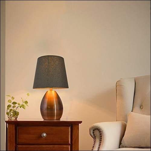 Tall Fabric Shade Table Lamp - Lamps & Lighting