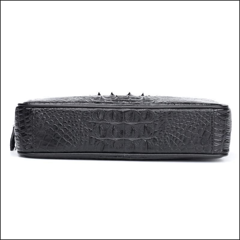 Thailand Imported Crocodile Skin Leather Clutch Wallet Bag