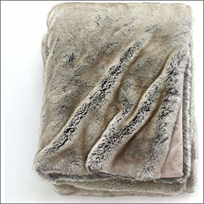 Timber Wolf Fox Lynx Faux Fur Throw Blanket - 68W x 88L
