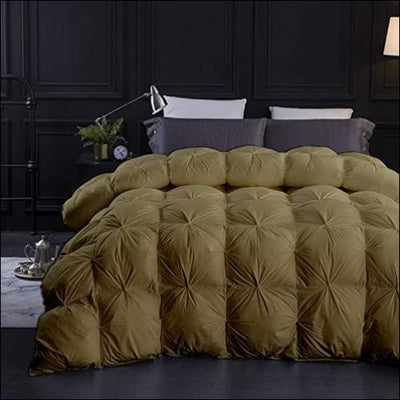 Toupe Goose Down Pintuck Bedding Comforter