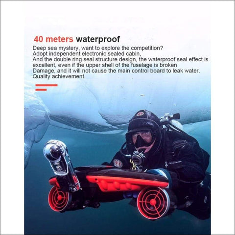 Tri-speed Thruster Electric Underwater Scooter - Travel Electronics