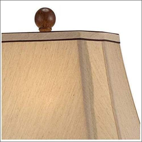 Two-tone Brown Urn Table Lamp - Lamps & Lighting