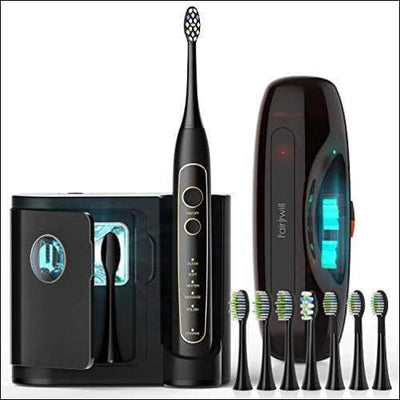 Fairywill PRO Electric Toothbrush Ultra-Sonic Power Whitening with 5 Modes Wireless Charging and Smart Timer 8 Brush Heads A Chargeable