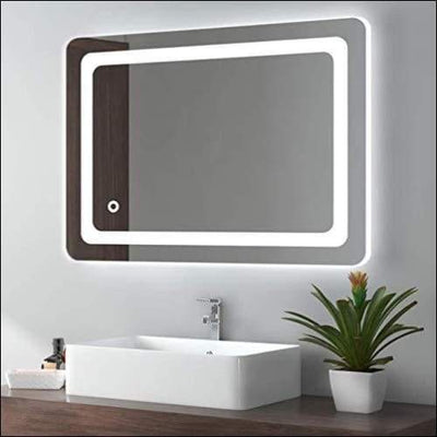 Vanity Memory Touch Lighted Wall Mount Mirror