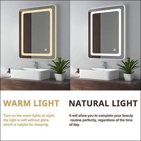 luxury lighted wall mount mirrors for bathroom