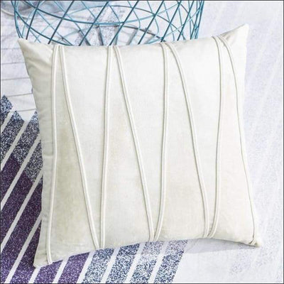 Velvet Striped Throw Pillow Cover