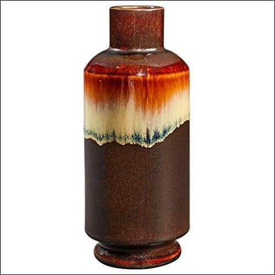 Warm Rustic Stoneware Tabletop Flower Vase
