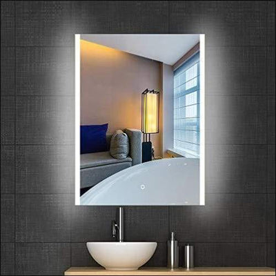 32x24 Inch Illuminated Bathroom Wall Mounted for Vanity Mirror with Dimmable Touch Sensor Switch & Anti-Fog Bluetooth Waterproof IP44 Led