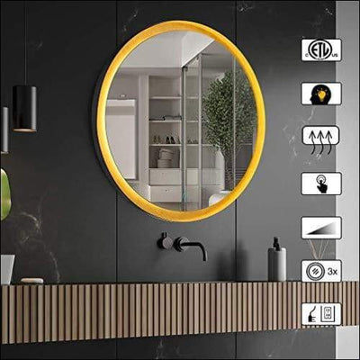 Waterproof Anti-Fog LED Wall Mounted Mirror
