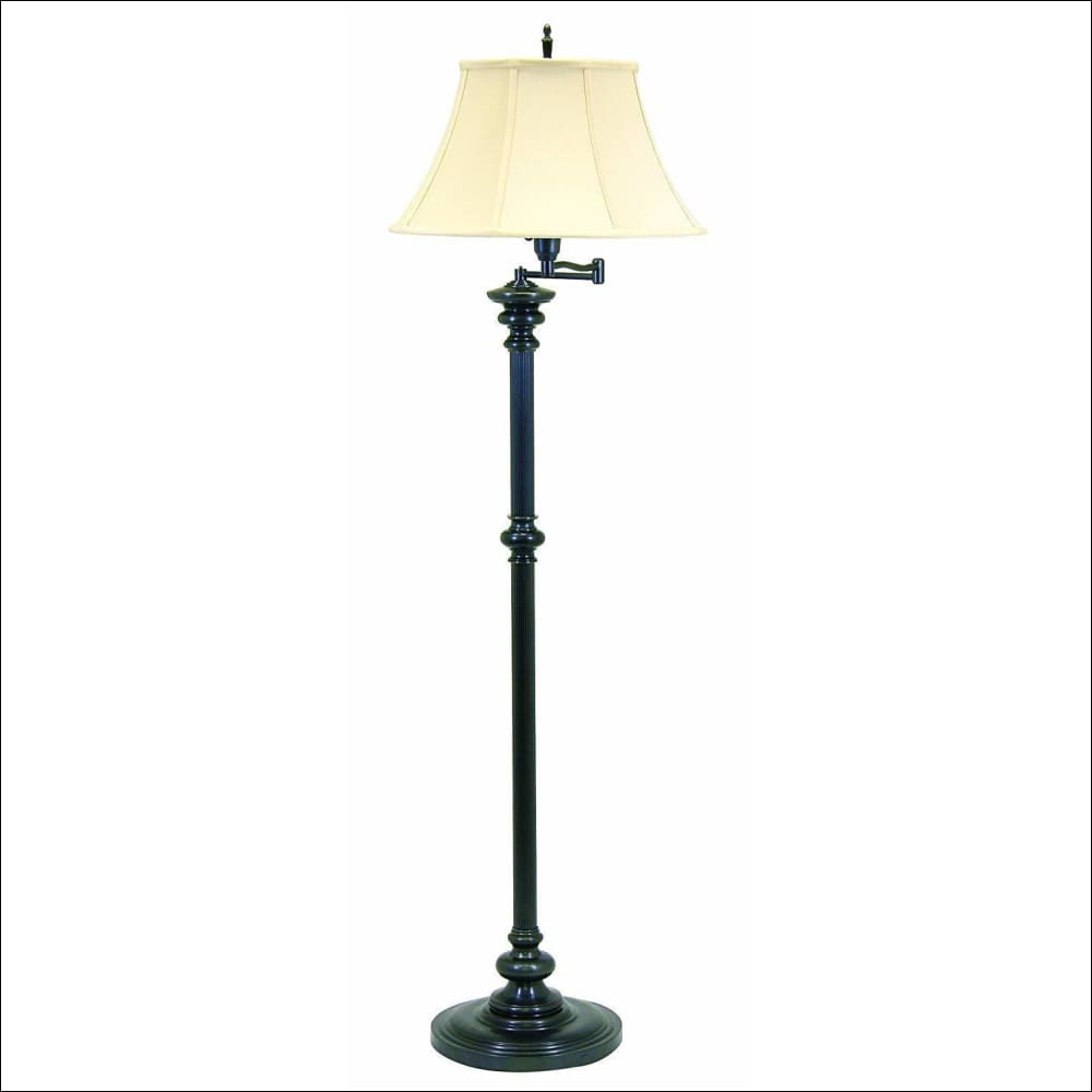 Off-White Antique Brass Floor Lamp - Lamps & Lighting