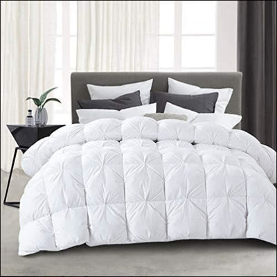White Baffle Box Goose Down Bedding Comforter