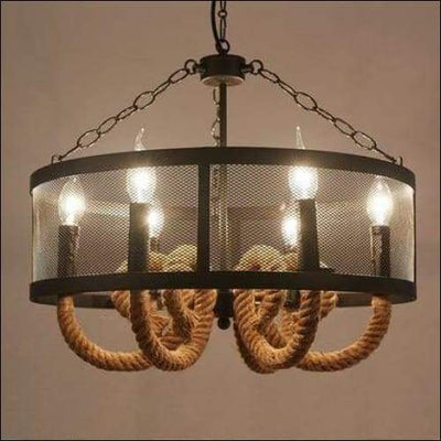 Wire Mesh Iron Rope Loft Ceiling Lamp